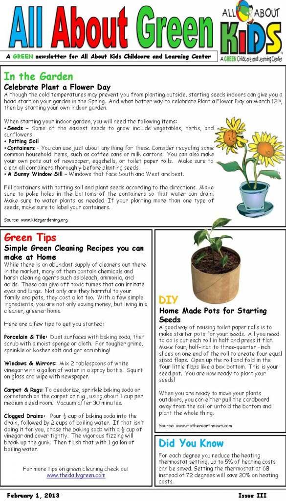 Green Newsletter #1