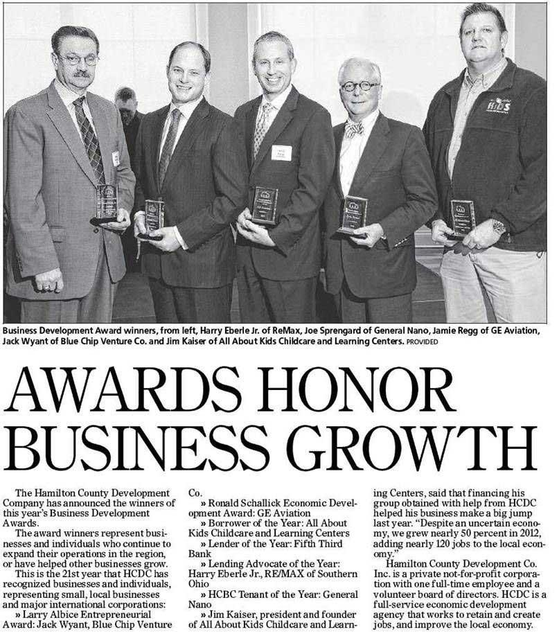 Recipient of Business Development Award